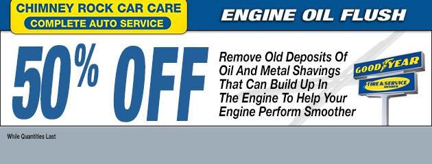 50% OFF ENGINE OIL FLUSH