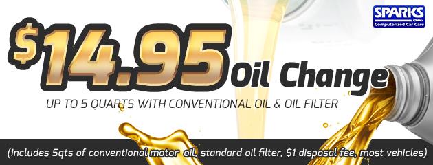 $14.95 Oil Change