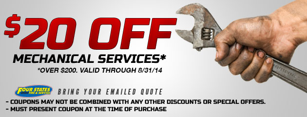 $20 Off Mechanical Service Of $200 Or More