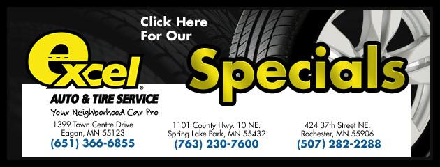 Excel Auto & Tire Service Savings