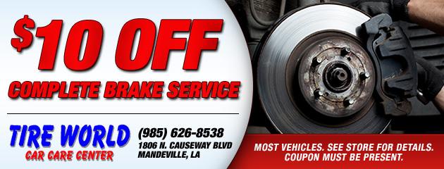 $10 OFF Brake Service