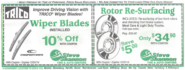 Wipers & Rotors