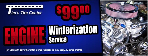 $99.00 Engine Winterization Service
