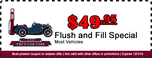 Flush and Fill Special