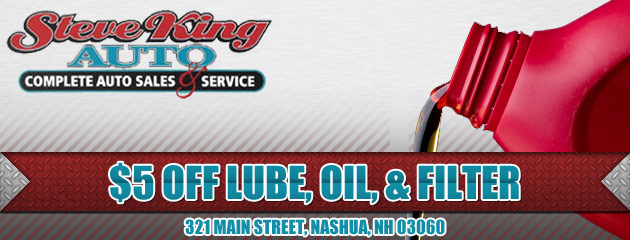 $5 OFF Lube, Oil, Filter