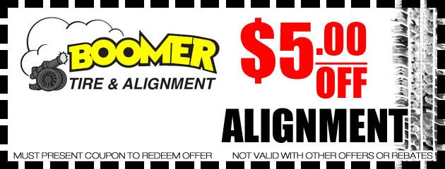 $5 off Alignment