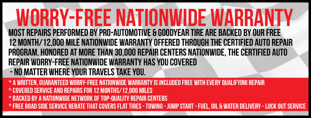 Worry Free Nationwide Warranty