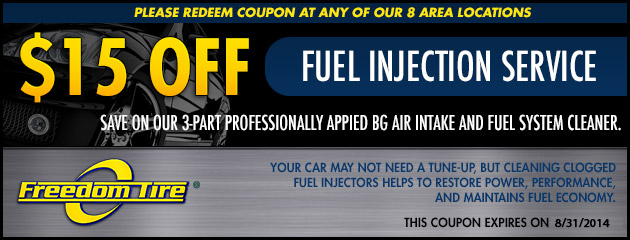 $15 Off Fuel Injection Service