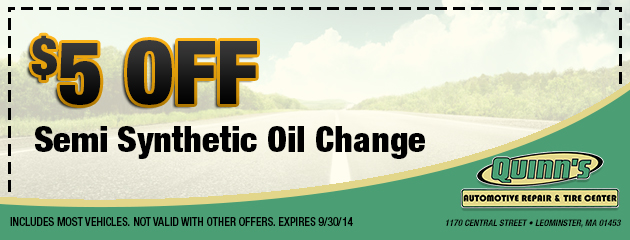 $5 Off Semi-Synthetic Oil Change