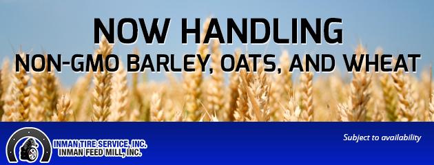 NON-GMO BARLEY, OATS, AND WHEAT