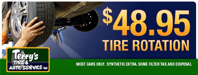 $48.95 Tire Rotation