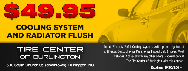 $49.95 Cooling System and Radiator Flush