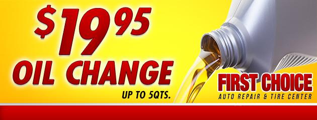 $19.95 Oil Change Service