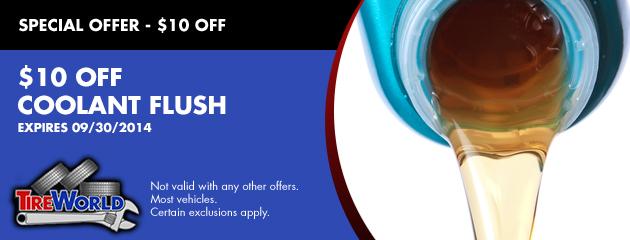 $10 OFF Coolant Flush