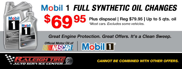 Mobile 1 Oil Change Special