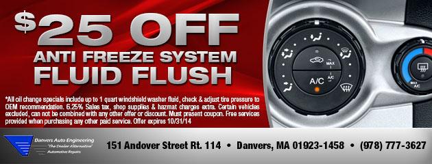 Anti Freeze Fluid Flush