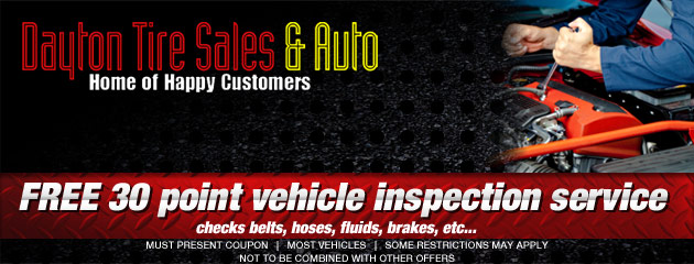 FREE 30 point vehicle inspection service