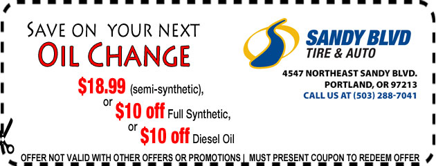 Save on next oil change