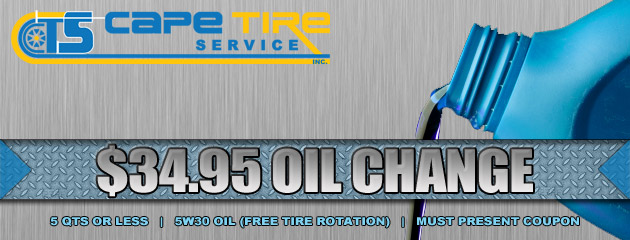Cape Tire Service Oil Change Special