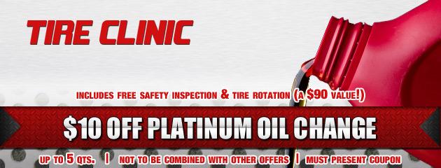 Tire Clinic Platinum Oil Change