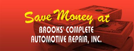Brooks Complete Auto Repair Inc Savings
