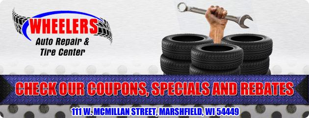 Wheelers Auto Repair & Tire Center Savings