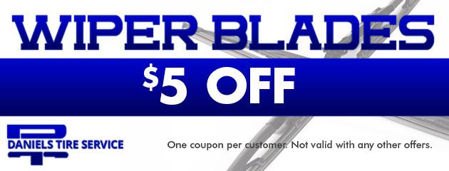 $5.00 Off Wiper Blades
