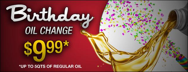 Birthday Oil Change