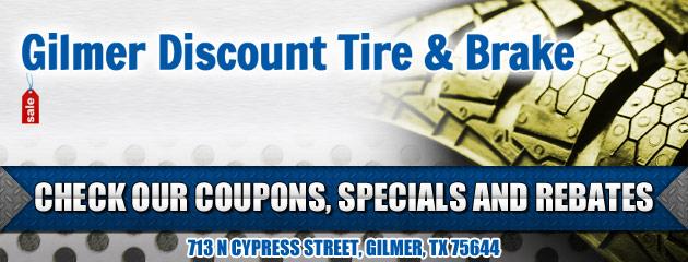 Gilmer Discount Tire & Brake Savings